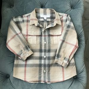 Burberry baby boy shirt, size 18m